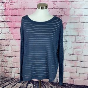 14th & Union Stripe Boatneck Long Sleeve Pullover